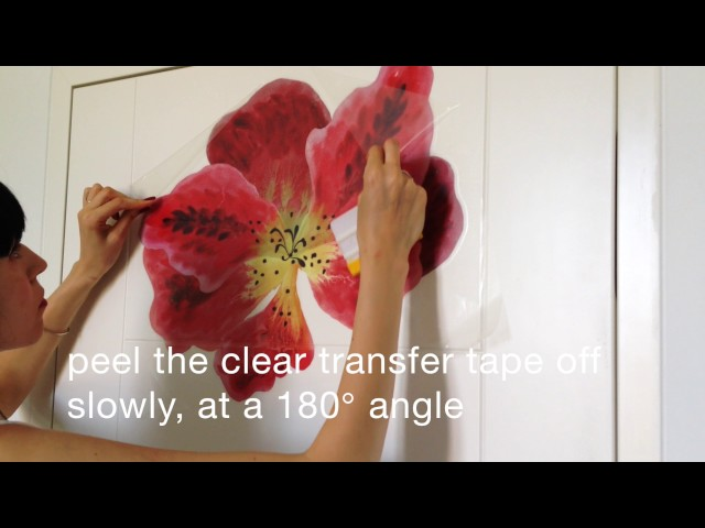 How To Install Large Flower Decals