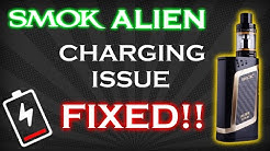 "How to fix charging problem with SMOK Alien 220W ""smok alien 220w wont charge"""