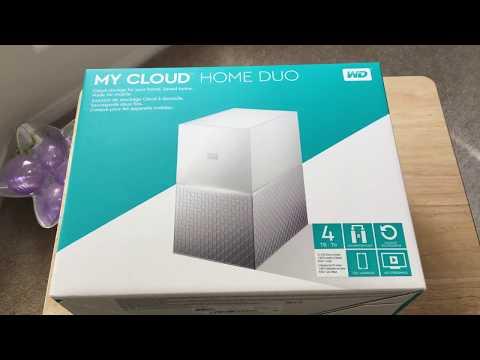 Western Digital My Cloud Home Duo 4TB RAID NAS Unboxing 10-20-17