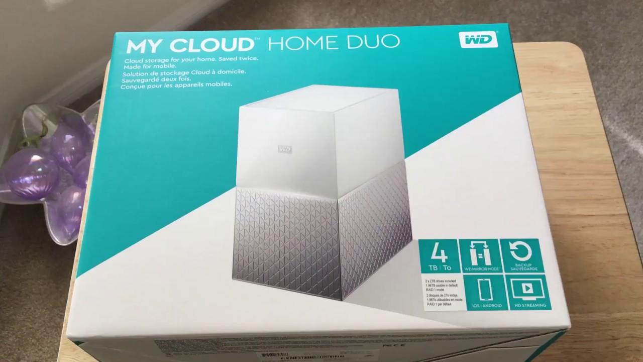 Western Digital My Cloud Home Duo 4TB RAID NAS Unboxing 10 ...