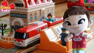 라임의 띠띠뽀 말하는 관제센터 서프라이즈 에그 장난감 놀이  wheel on the bus