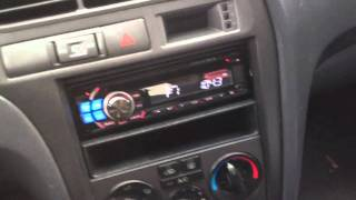 2001 Hyundai Elantra Alpine Electronics Dash Kit Radio Cde-121 IPOD cd