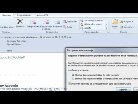 Recuperar elementos enviados en Outlook 2007/2010 - NH México