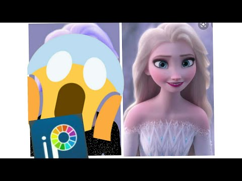 Glow Up Of Disney Princess Elsa In Ibis Paint X❤️| Tutorial