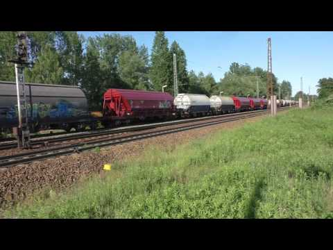 (HD) German Diesel Power 2: Diesel Traxx 285 125-3 departs Leipzig Thekla 6/6/16