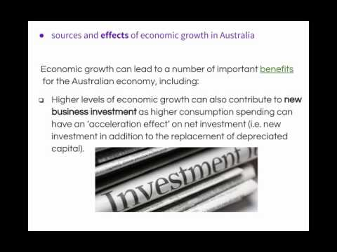 HSC Economics Topic Three: Economic Growth Video #4