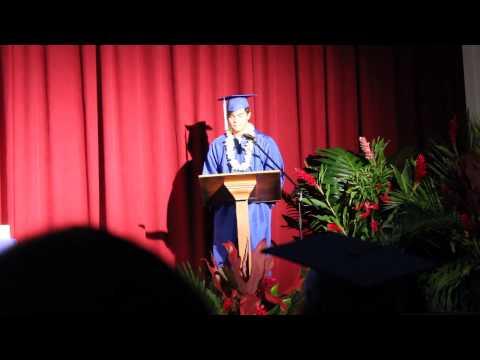 Nicholas Salmas - Honolulu Waldorf High School Graduation Speech