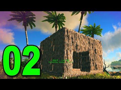 ARK: Survival Evolved - Part 2 - BUILDING A BASE!