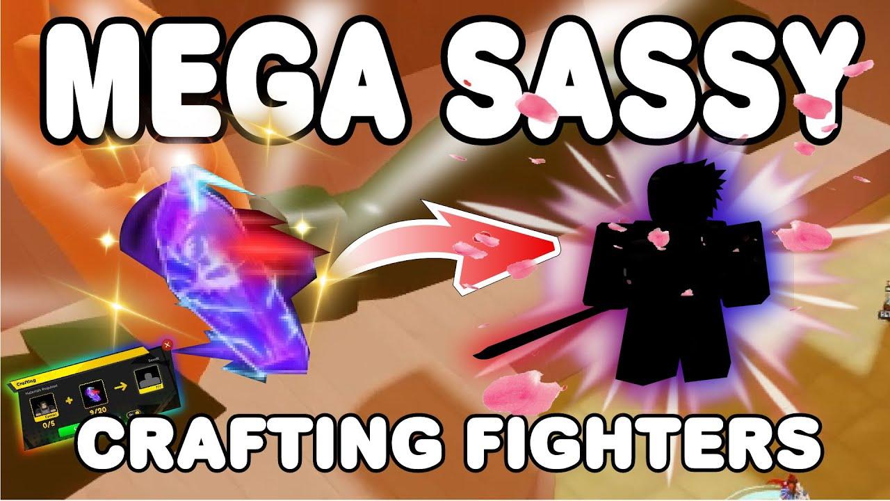 Download CRAFTING NINJA FIGHTERS 🌸 MEGA SASSY 🌸 IN SECRET VILLAGE | ANIME FIGHTERS SIMULATOR