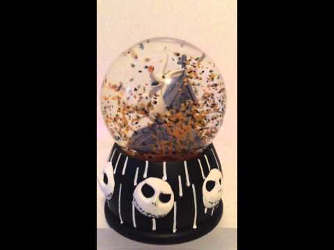 Nightmare Before Christmas Zero Dog Musical Water (Snow) Globe Working Video For Ebay Sales Listing