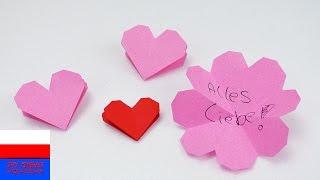 Kartka kwiatek-serce | kartka w kształcie serca | pomysł na Dzień Matki