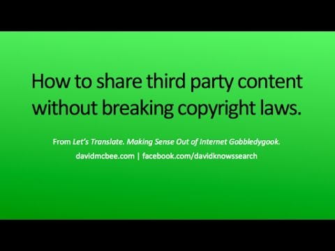 Sharing third party content on Facebook without breaking copyright laws