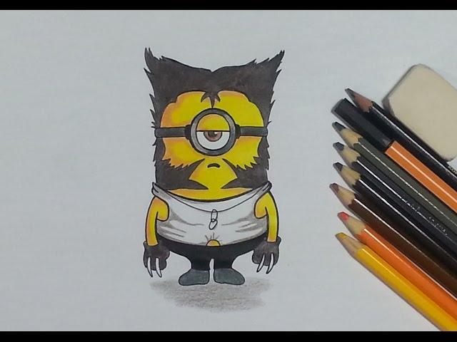 Como Desenhar O Minion Wolverine Youtube