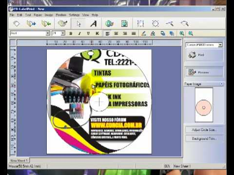 Como configurar o Canon Cd LAbel Print - YouTube