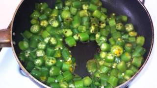 Indian Style Okra/ Bhindi Ki Sabzi / Bhinda Nu Shak