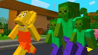 LISA SIMPSON TURNS EVERYONE INTO ZOMBIES | The Simpsons | Minecraft Xbox