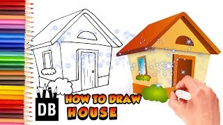 How To Draw A House | 4 Kids Cottage House Easy Draw Tutorial