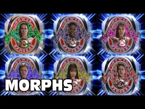 Mighty Morphin Power Rangers - All Ranger Morphs | Season 1 Episodes 1-60