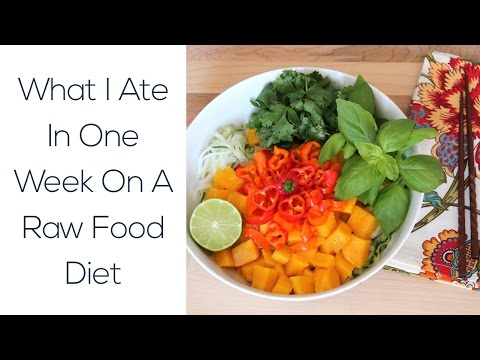 What I Ate In One Week On A Raw Food Diet
