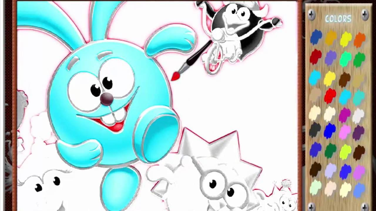 Крош #Смешарики // Раскраска для малышей - YouTube