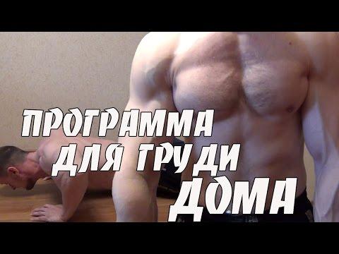 Накачать грудные мышцы в домашних условиях программа тренировок