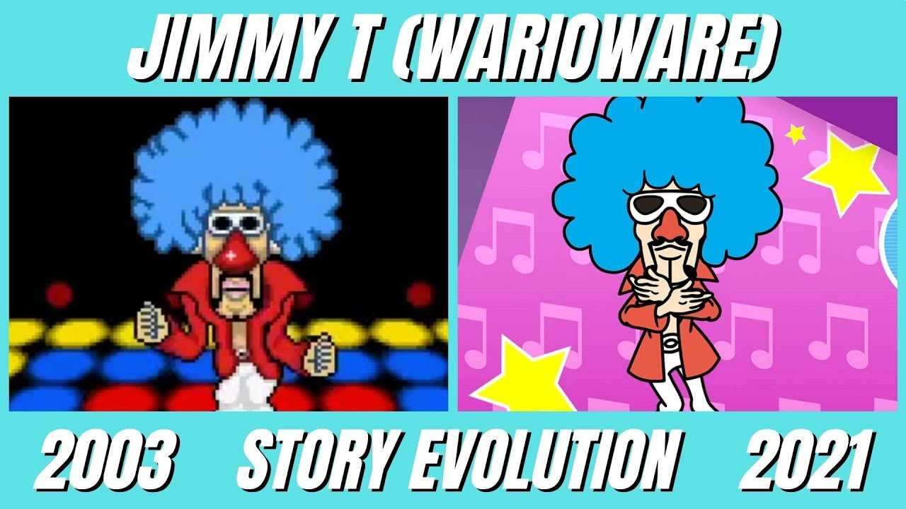 Evolution of Jimmy T Story in WarioWare Games (2003-2021)