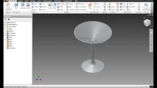 Creating a Cocktail Glass in Autodesk Inventor