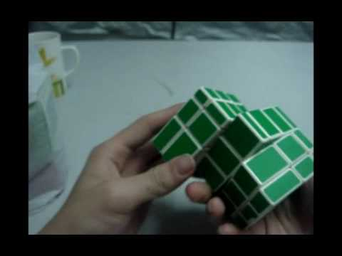 lightake:LWB DIY 5-Layer Siamese Green Mirror Magic IQ Test Cube White