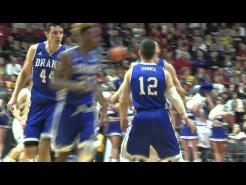 Drake Men's Basketball vs Iowa   Highlights