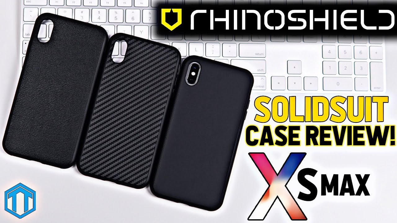 Best Iphone Xs Max Cases Rhinoshield Solidsuit Review Youtube