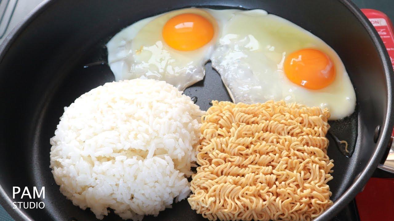 ข้าวผัดมาม่า เมนูมาม่า สุดฮิตจากญี่ปุ่น แปลกใหม่ แต่อร่อยเหลือเชื่อ Ramen Fried Rice   Pam Studio