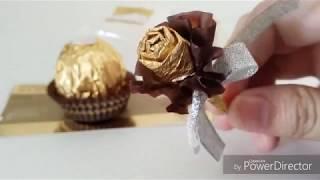 Easy pretty little roses by paper from Ferrero Rocher Resimi