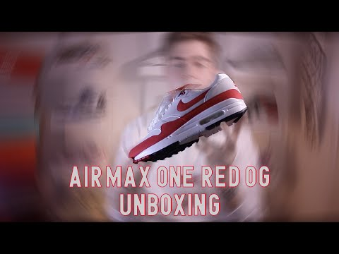 unboxing-nike-air-max-1-red-og-🔴-+-on-feet