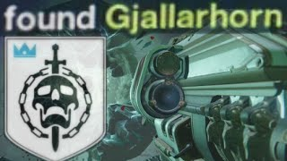 "Found Gjallarhorn + Flawless Raider Achievement / Trophy - Destiny ""Crota"