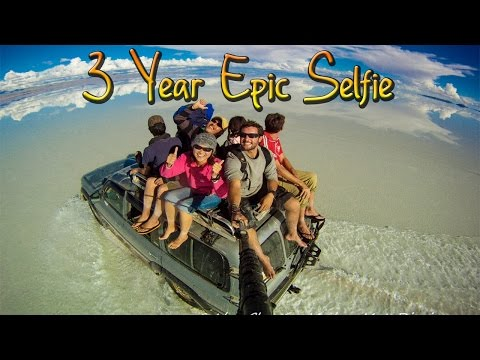 Around the World in 360° Degrees - 3 Year Epic Selfie