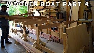Wooden Boat Build // Part 4 Transom & Fairing Bottom Frame