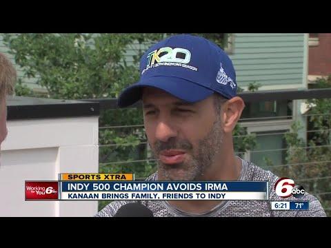 Indy 500 Tony Kanaan brings family, friends to Indianapolis to avoid Hurricane Irma