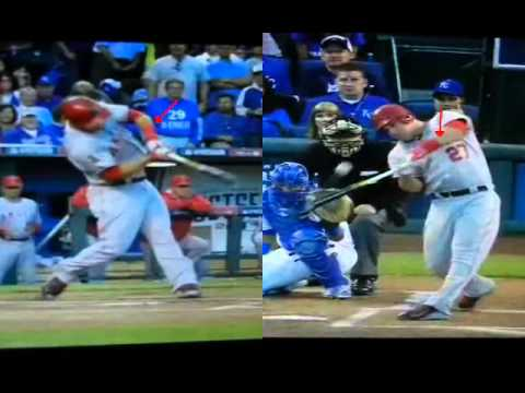 Mike Trout-Tight Inside Pitch Mechanics