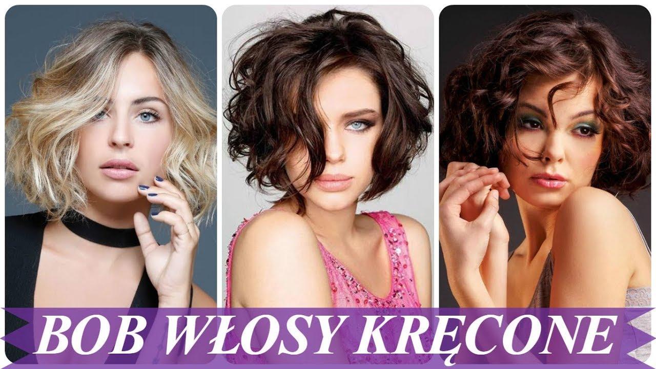 Top 20 Najmodniejsze Fryzura Bob Kręcone Włosy 2018