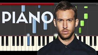 Calvin Harris Rollin Khalid Future  Piano Midi tutorial Sheet app Cover Karaoke