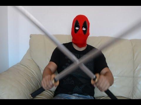 Mascara de Deadpool especial 50000 Suscriptores Mostrando mi cara