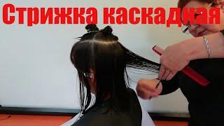 Стрижка Каскад на среднюю длину волос