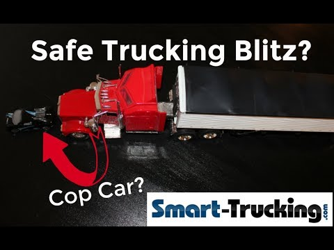 Cops Target UNSAFE Truck Drivers in Recent Safety Blitz?????