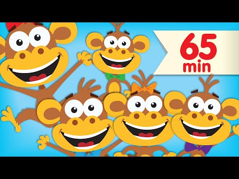 Five Little Monkeys | + More Super Simple Songs & Nursery Rhymes