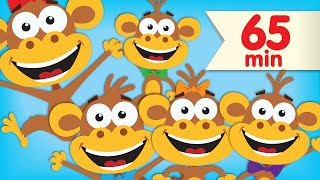 Five Little Monkeys | + More Super Simple Songs & Nursery Rhymes thumbnail