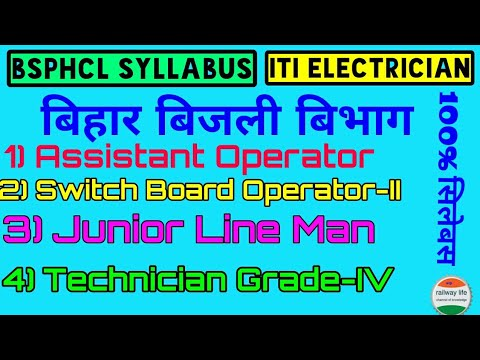 Syllabus of bihar state power holding Corporation Ltd [ bsphcl ] for iti Electrician