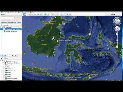 tugas kuliah, penandaan sebuah titik koordinat dan pemberian simbol pada sebuah Peta, teknik informa.