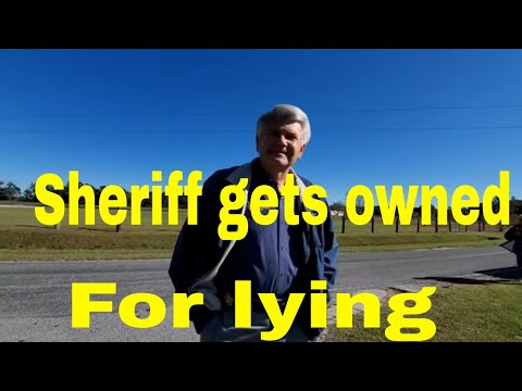 Sheriff gets Owned when Caught lying.1st and 2nd Amendment Audit