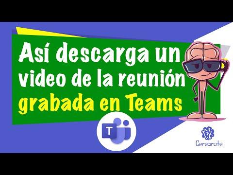 Como descargar clases grabadas en Microsoft Teams | Descargar video de Teams