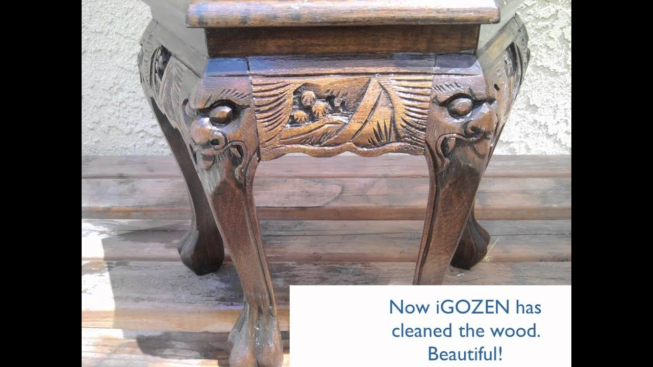How to Clean Antique wood with iGOZEN - How To Clean Antique Wood With IGOZEN - YouTube